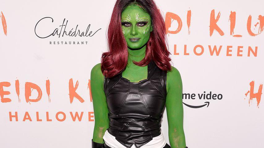 Taylor Hill als Comicfigur Gamora auf Heidi Klums Party, Halloween 2019