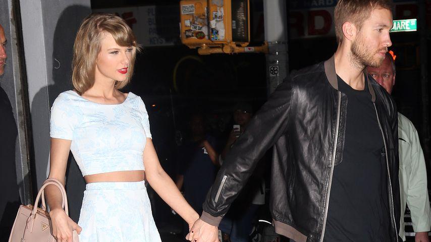 So verliebt! Calvin Harris stellt Taylor seiner Familie vor
