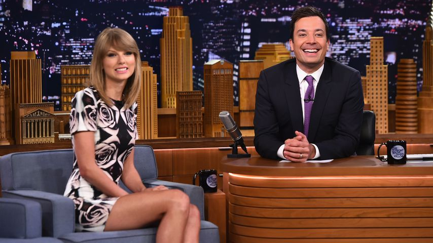 "Taylor Swift und Jimmy Fallon in der ""Tonight Show Starring Jimmy Fallon"" 2014"