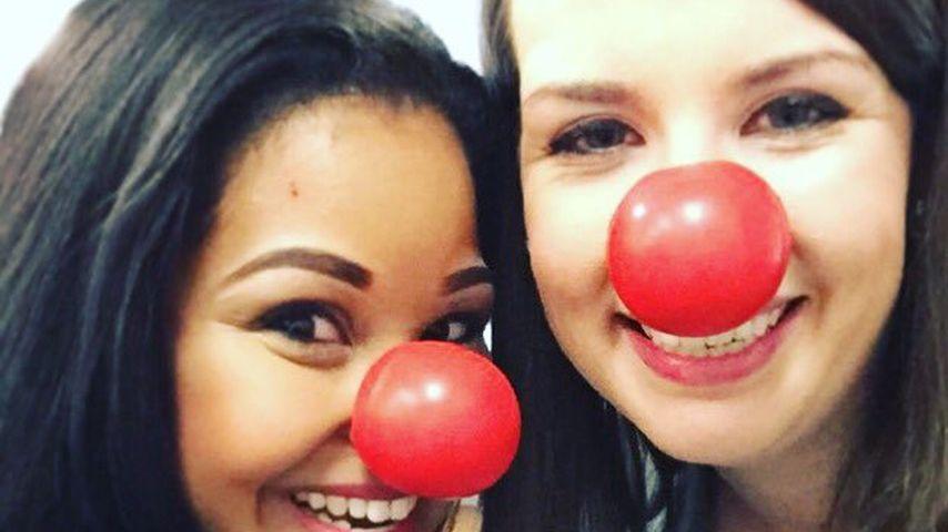 Taylor Terrell und eine Kollegin beim Red Nose Day