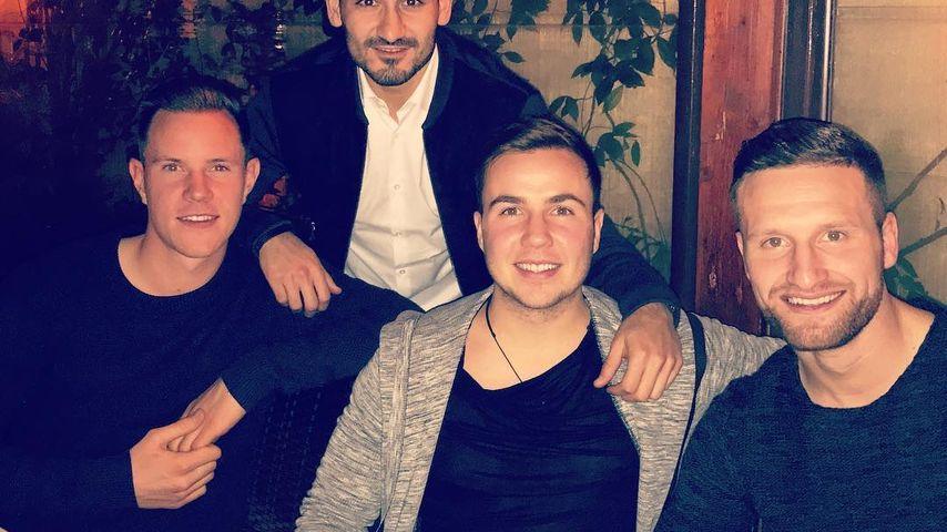 Ter Stegen, Ilkay Gündogan, Mario Götze und Shkodran Mustafi in Rom