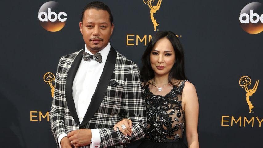 Terrence Howard und Mira Pak bei den Emmy Awards 2016