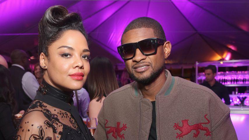 """Tessa Thompson und Usher bei der """"Black Panther""""-Premiere"""