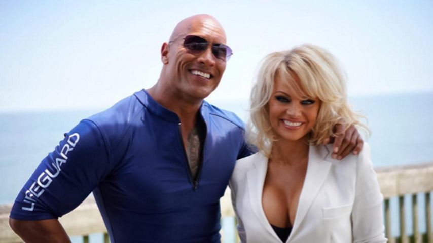 "Dwayne ""The Rock"" Johnson und Pamela Anderson"