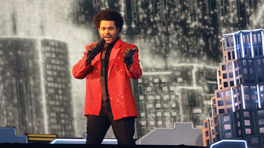 The Weeknd bei der Super Bowl Halftime Show, 2021