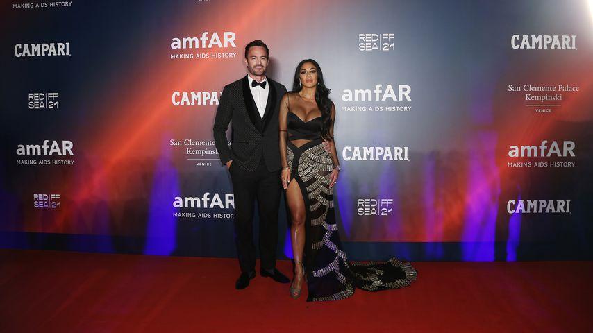 Thom Evans und Nicole Scherzinger bei dem amfAR-Event, Filmfestspiele Venedig 2021