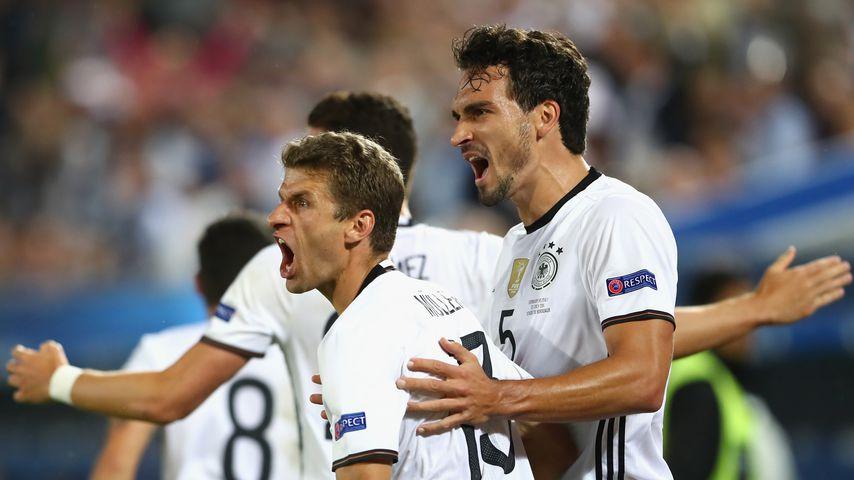 Thomas Müller und Mats Hummels bei der EM 2016