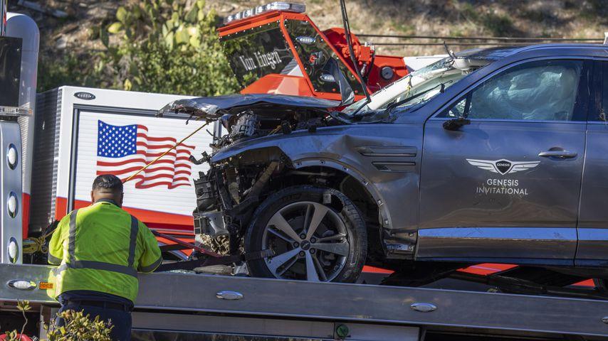 Tiger Woods' Auto nach dem schweren Unfall