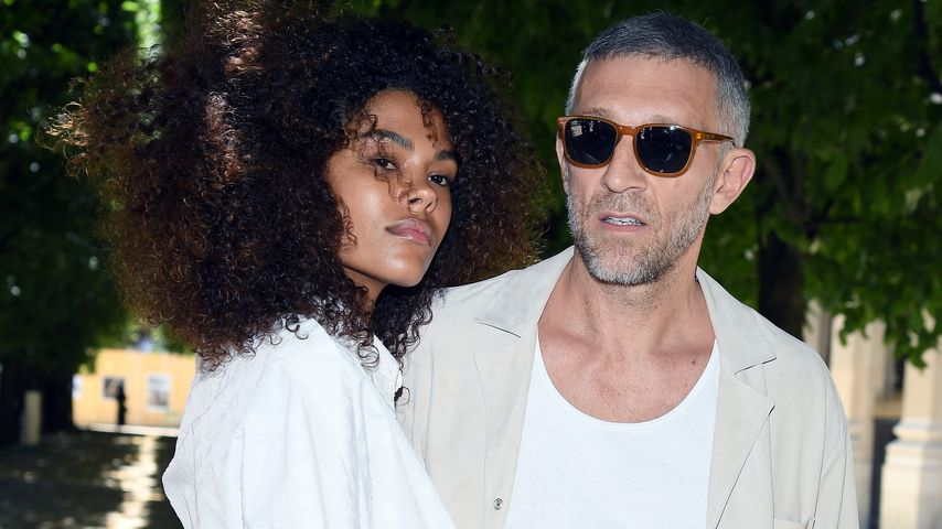 Tina Kunakey und Vincent Cassel, Model und Schauspieler