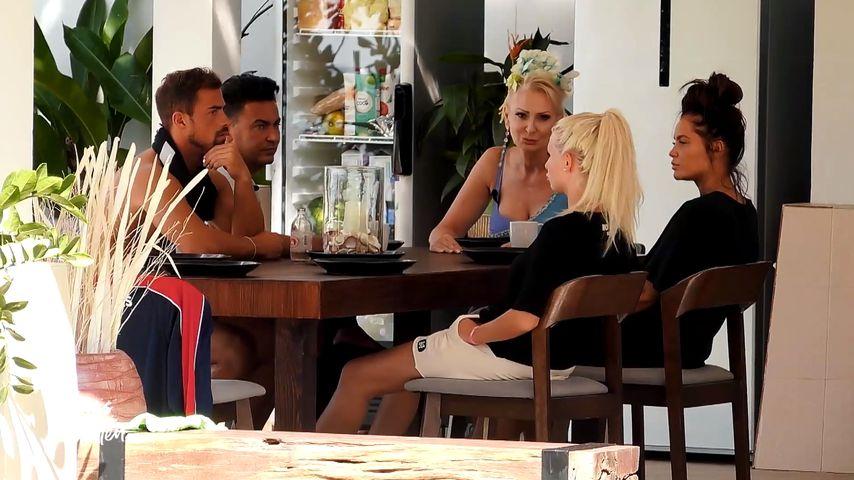 "Tobi, Matthias, Désirée, Carina und Janine bei ""Promis unter Palmen"""