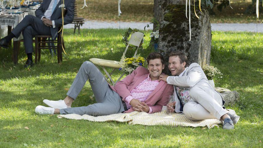 """Tobias (Max Beier) und Boris (Florian Frowein) bei """"Sturm der Liebe"""""""