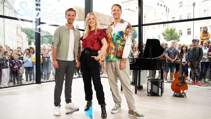 Toby Gad, Ilse DeLange und Florian Silbereisen bei DSDS