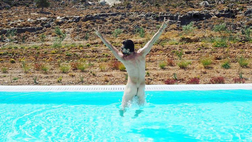 Der Arsch kann sich sehen lassen: Tom Beck nackt im Pool!