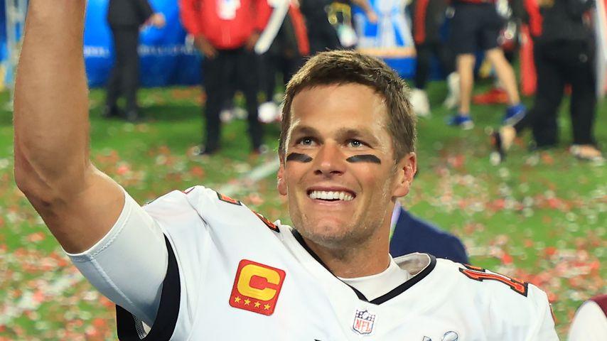 Tom Brady beim Super Bowl in Tampa im Februar 2021