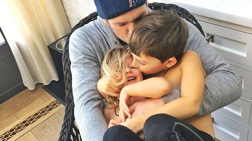 Tom Brady mit Tochter Vivian und Sohn Benjamin