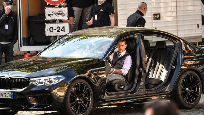 """Tom Cruise, Oktober 2020 bei den Dreharbeiten zu """"Mission: Impossible sieben"""" in Rom"""