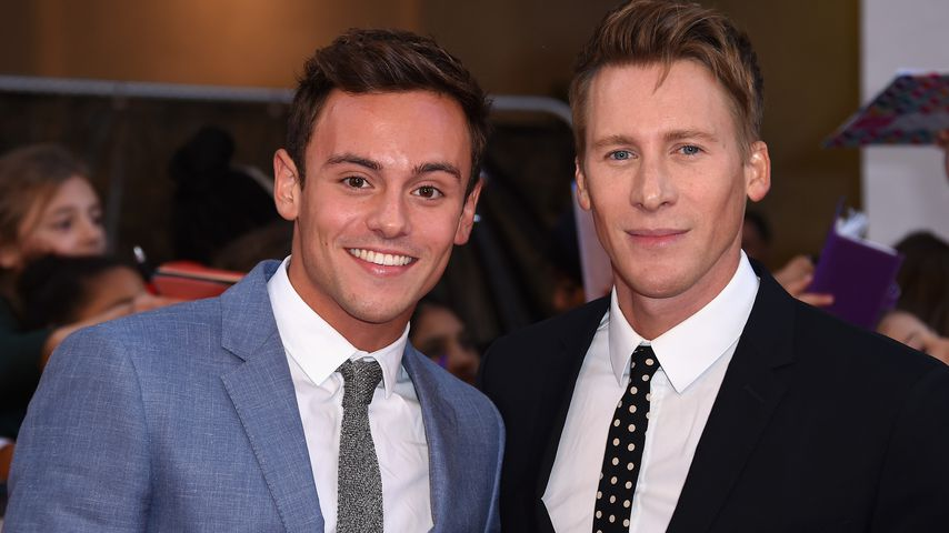 Tom Daley und Dustin Lance Black in London