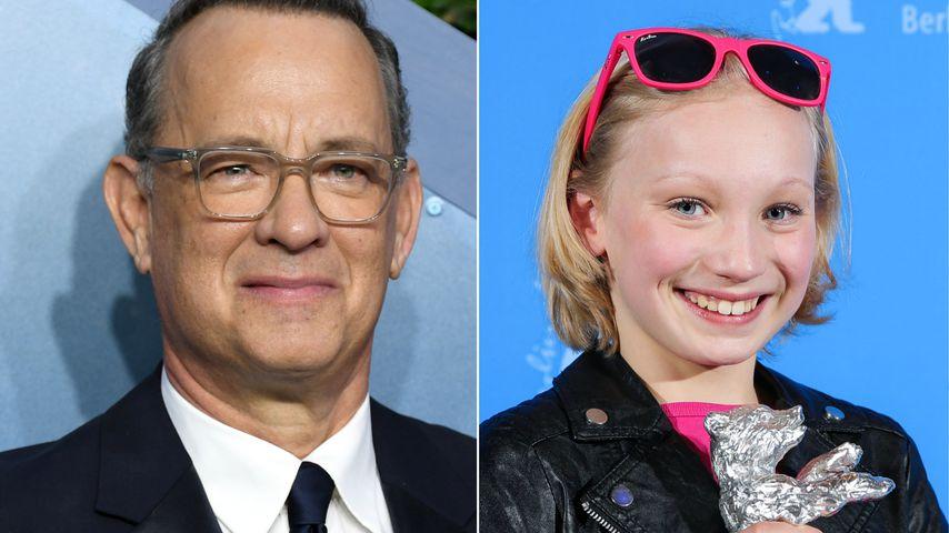 Collage: Tom Hanks und Helena Zengel