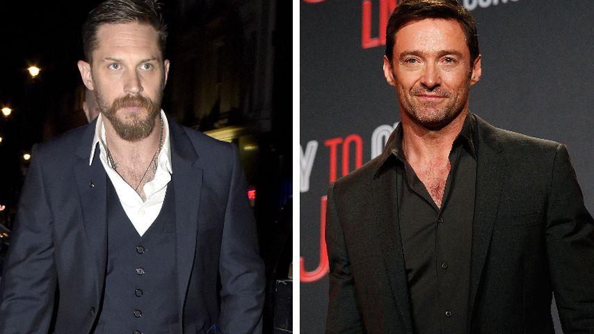 Wettbewerb? Tom Hardy & Hugh Jackman wollen Bond spielen