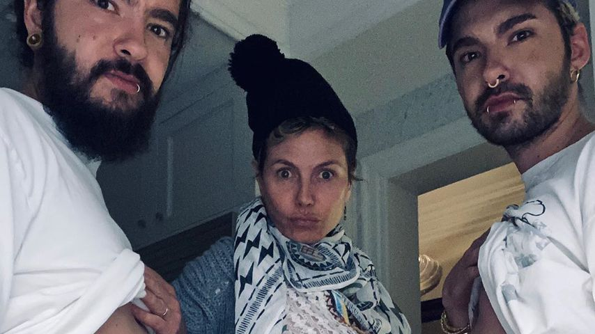 Heidi Klum, Bill und Tom Kaulitz im April 2020