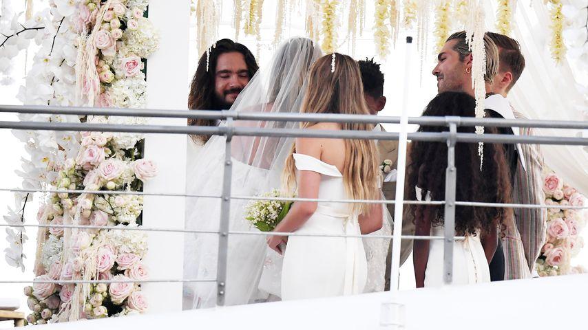 Tom Kaulitz und Heidi Klum am Hochzeitstag