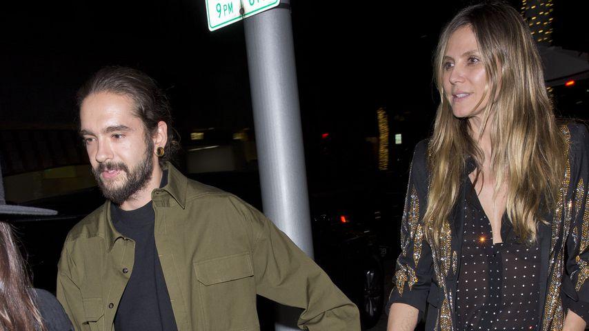 Tom Kaulitz und Heidi Klum beim Verlassen eines Restaurants