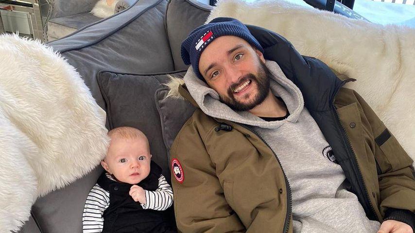 Tom Parker und sein Sohn Bodhi im Februar 2021