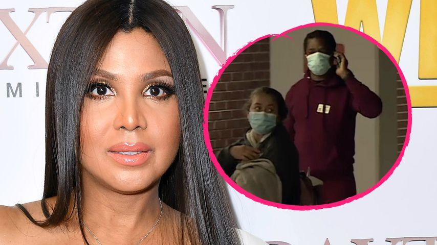 Hier besucht Toni Braxton Schwester Tamar im Krankenhaus