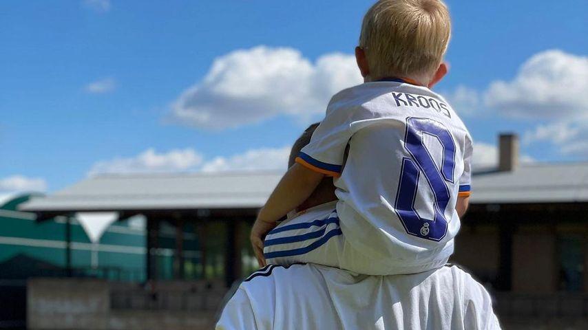 Toni Kroos und sein Sohn Fin