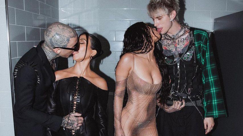 Nach VMAs: Megan, MGK, Travis und Kourtney haben Doppeldate
