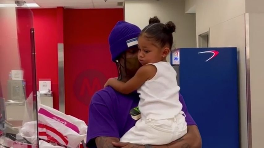 Travis Scott mit seiner Tochter Stormi Webster