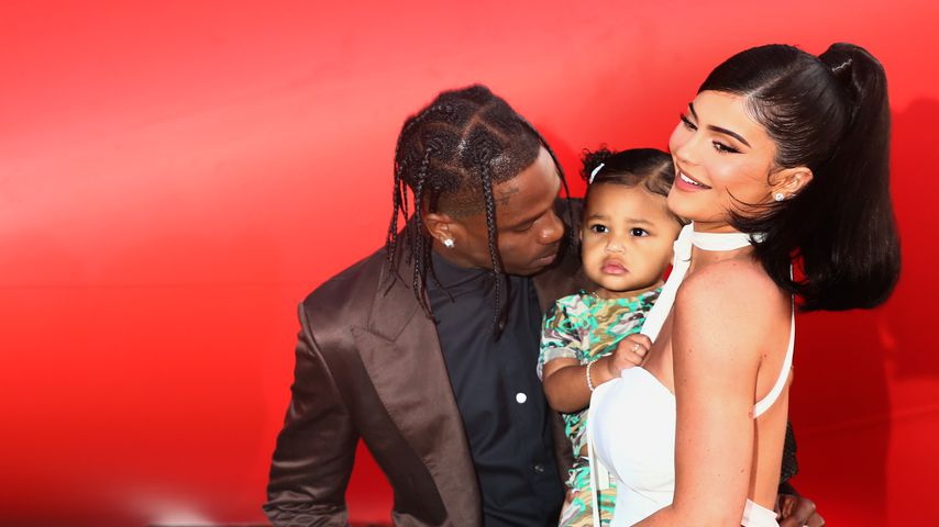 "Travis Scott, Stormi Webster und Kylie Jenner bei der ""Travis Scott: Look Mom I Can Fly""-Premiere"