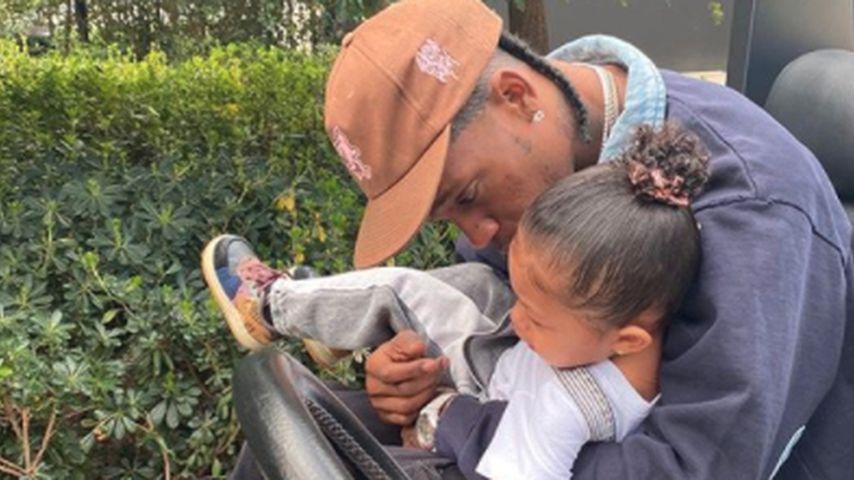 Travis Scott mit Tochter Stormi