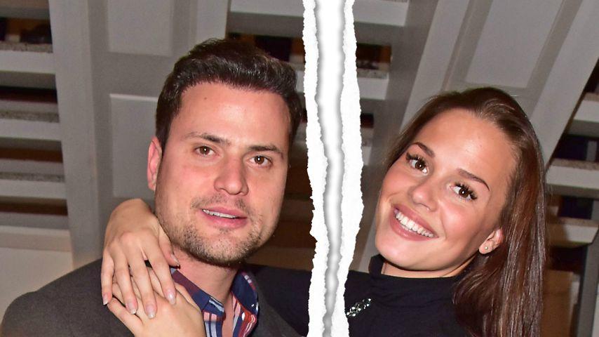 Collage: Trennung bei Rocco Stark und seiner Ehefrau Nathalie