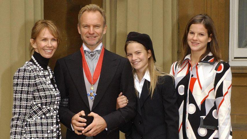 Trudie Styler, Sting und ihre Töchter Coco und Kate