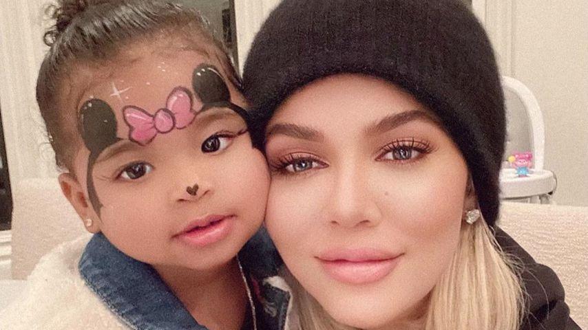 True Thompson und Khloe Kardashian im Januar 2020