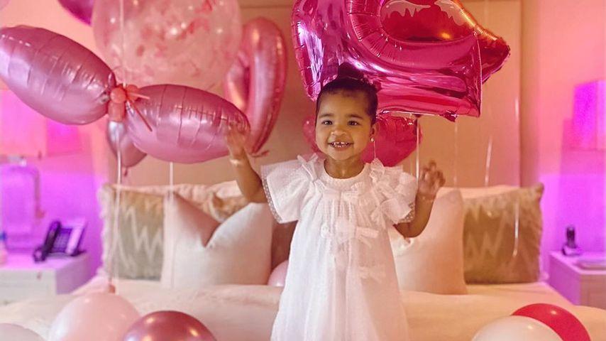 True Thomspon an ihrem zweiten Geburtstag