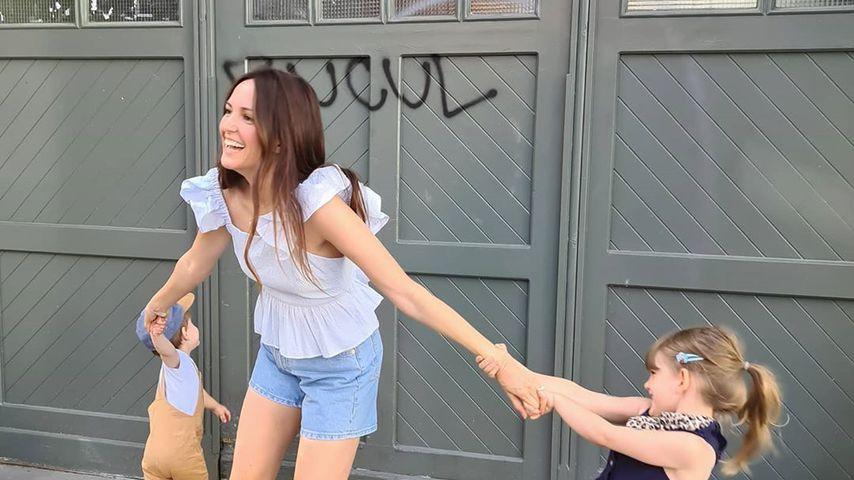 Familienurlaub mit den Kindern: Johanna Klum hat keine Ruhe