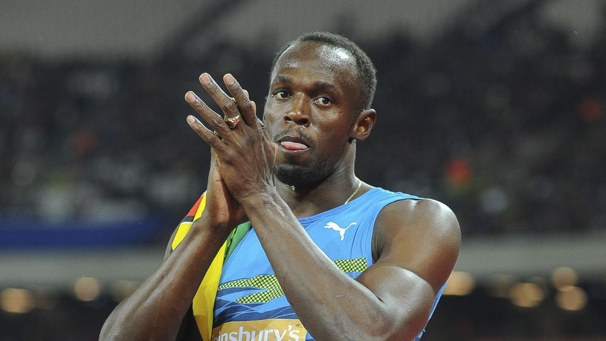 Usain Bolt bei den Sainsbury's Anniversary Games in London 2015