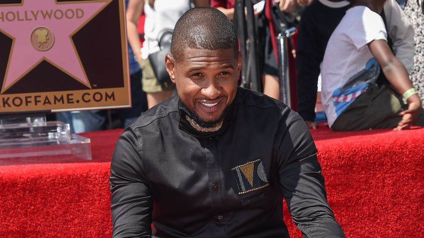 Usher mit seinem Stern auf dem Walk of Fame