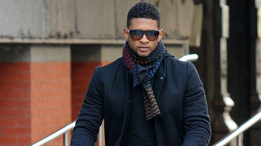 Usher mit seinen beiden Jungs in New York City (September 2012)