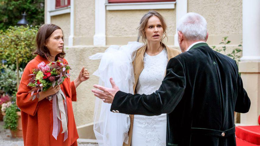 """Uta Kargel, Isabell Ege und Sepp Schauer bei """"Sturm der Liebe"""""""