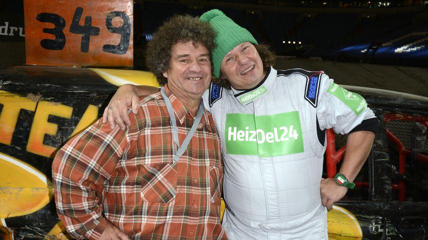 """Uwe und Manni Ludolf bei der """"ProSieben TV total Stock Car Crash Challenge"""""""