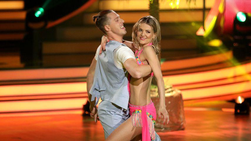Valentin Lusin und Ella Endlich bei ihrer Tanz-Performance