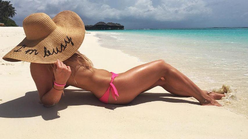 Valentina Pahde im Urlaub auf den Malediven