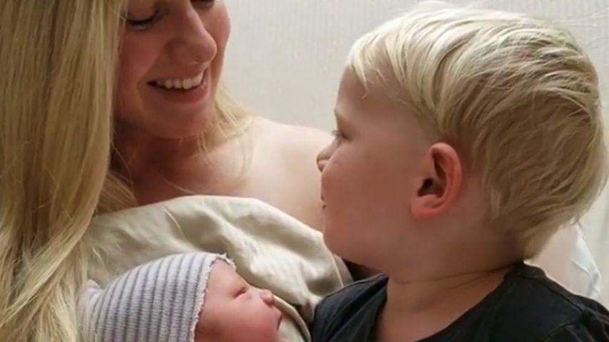 Valerie Pitalo mit ihren Söhnen William und Bodhi