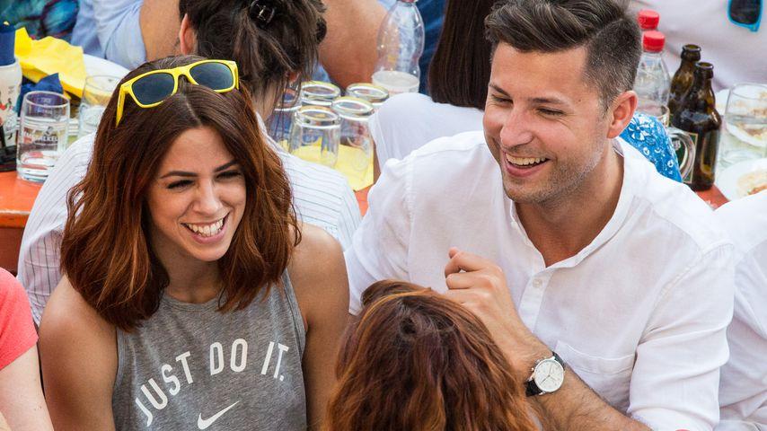 Vanessa Mai mit ihrem Ehemann Andreas Ferber, 2017