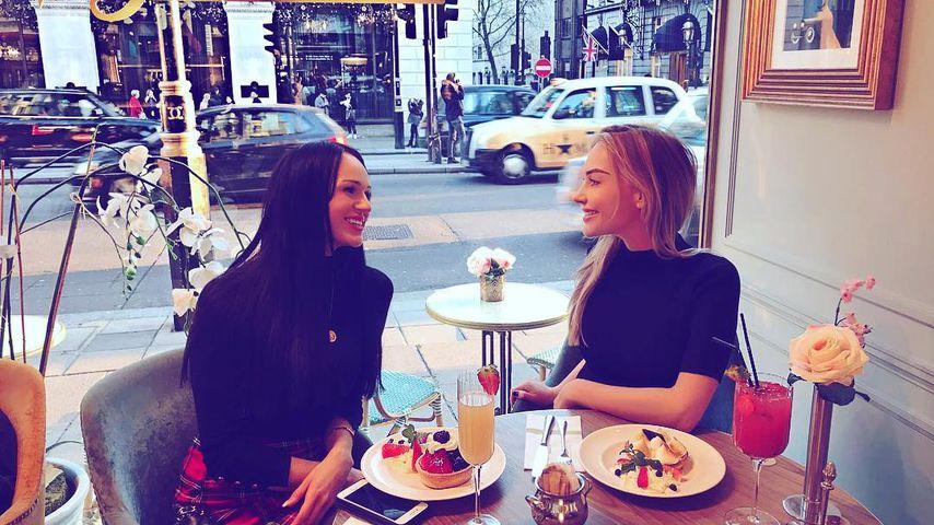 Vasfije Muharem und Tabea Thomas in London