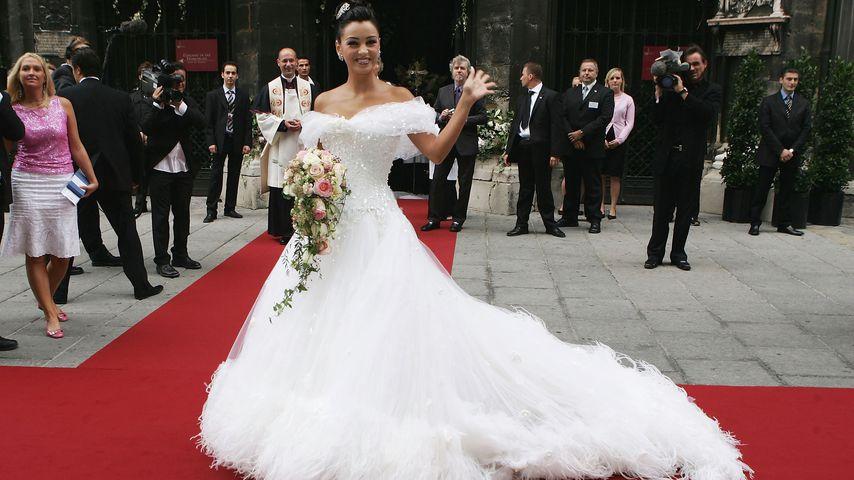 Verona Pooth am Tag ihrer Hochzeit mit Franjo Pooth am 10. September 2005 in Wien