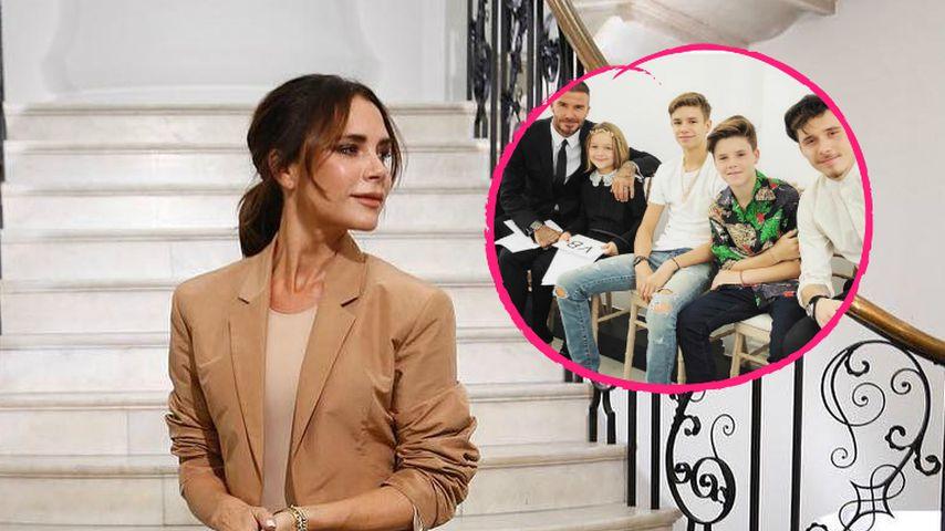 Süßer Family-Support zu Victoria Beckhams Fashion-Jubiliäum